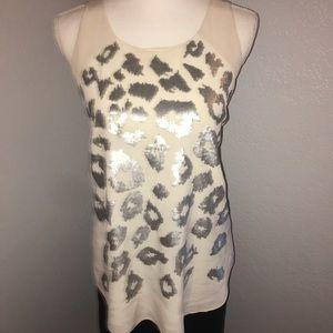 Rebecca Taylor Silk Sequin Embellished Blouse
